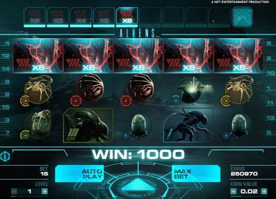 NetEnt Aliens Slot Screenshot