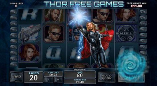 The Playtech Avengers Slot features bonuses for each superhero