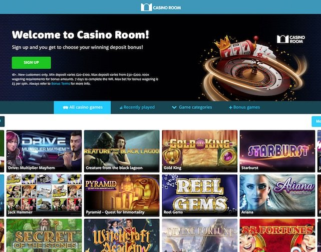 Review screenshot of Casino Room Home Page