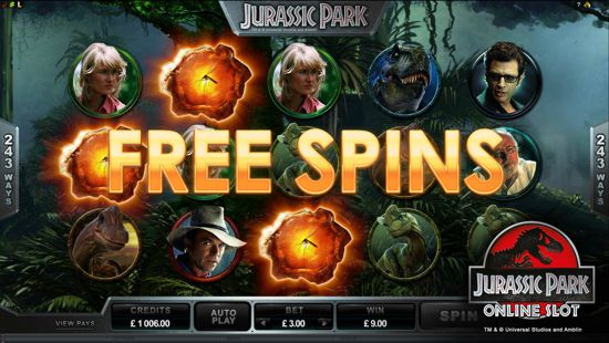 The Jurrasic Park Slot Free Spins Bonus Round