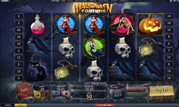 Play Halloween Fortune at Ladbrokes Casino