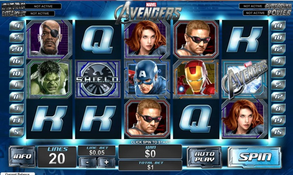 Screenshot of The Avengers Online Slot
