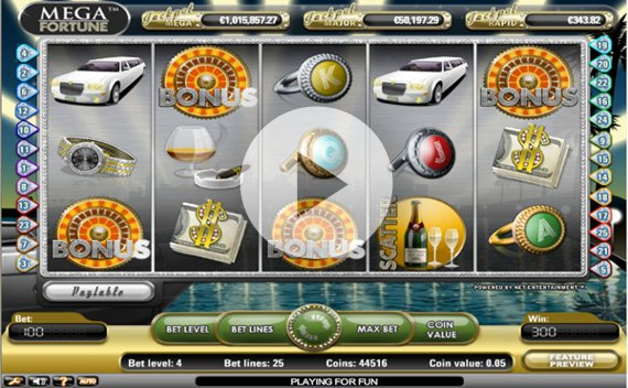 Screenshot of Mega Fortune Online Slot