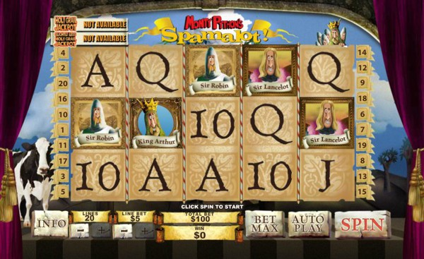 Spamalot online slot at William Hill