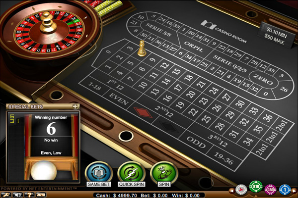 Play Online Roulette at Casino Room