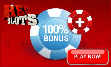 Redslots.com offers 100% to £200 free on their first deposit