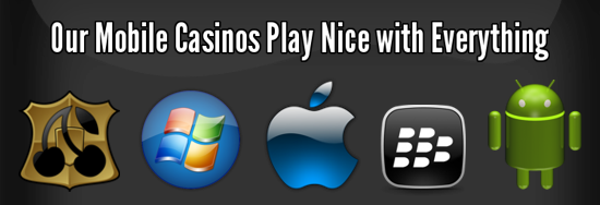 We recommend only slots and casino games that work on all tablets and smartphones