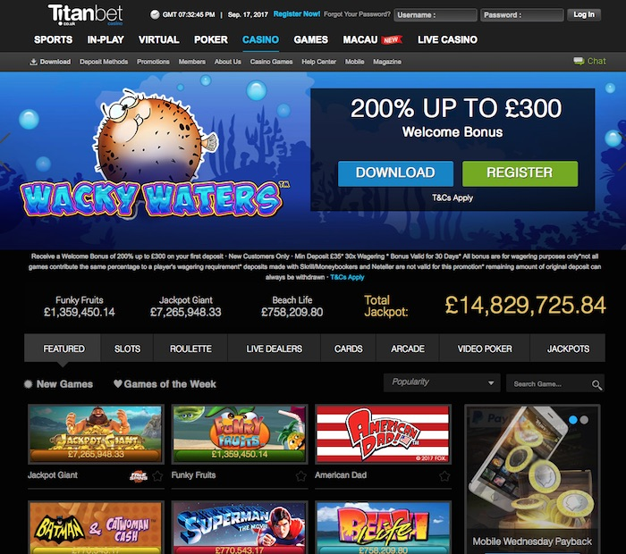 Titan Bet Review Screenshot