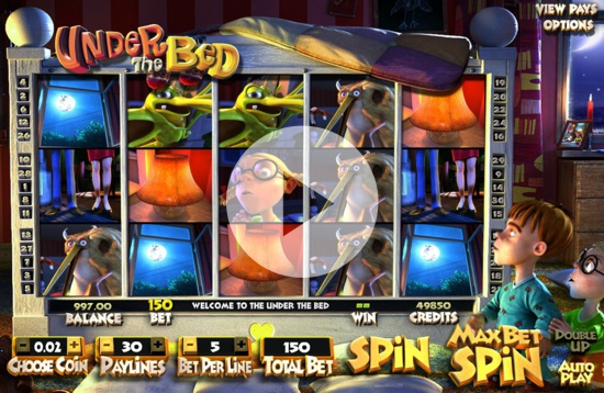 7Red Casino features popular slots including Under the Bed from Betsoft