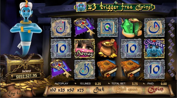 Play Millionaire Genie Progressive Jackpot at Vegas Spins