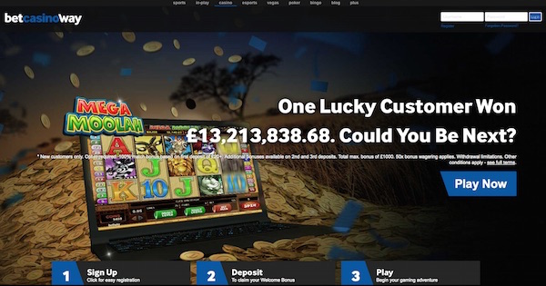 Betway Casino Screenshot UK Home