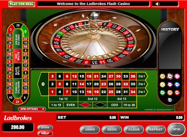 Play Online Roulette at Ladbrokes.com Casino