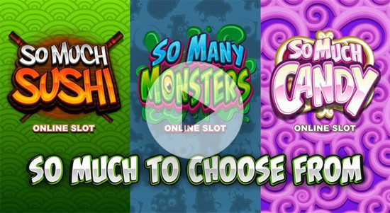 Microgaming slots such as so many monsters feature at Hippodrome