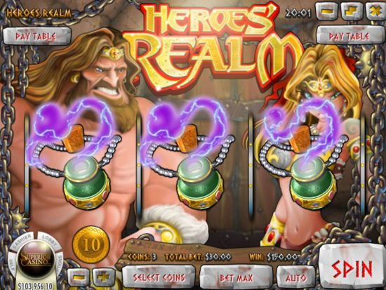 Heroes Realm™ Slot Machine Game to Play Free in Rivals Online Casinos