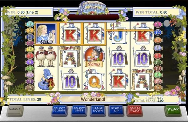 Gala Bingo Slots features the Adventures in Wonderland Slot