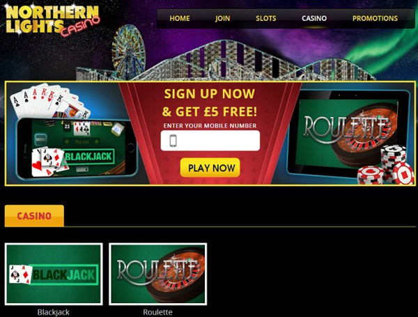 Northern Lights Casino offers Nektan Slots for mobile and desktop