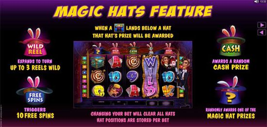 Rabbit in the Hat Slot Mystery Hats Feature