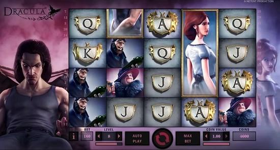Dracula Slot screenshot during real money game play