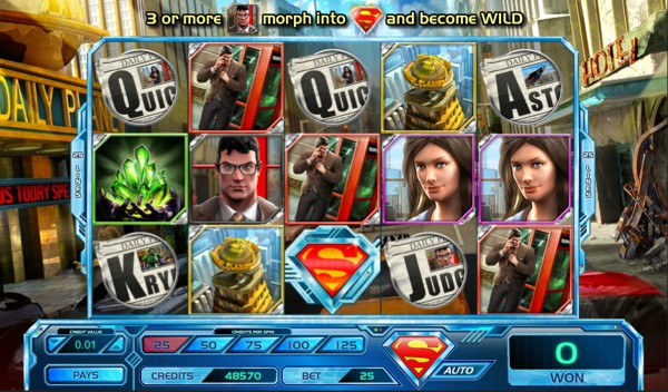 Screenshot of Superman: Last Son of Krypton Slot actual gameplay