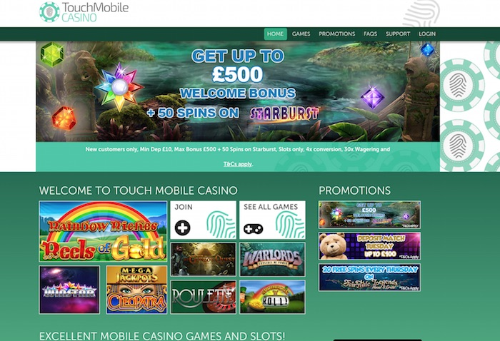 Touch Mobile Casino UK Review and Welcome Bonus Details