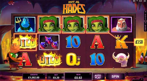 Screenshot of Hot as Hades Online Slot