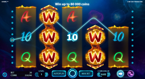 Play Sparks at Chomp Mobile Casino