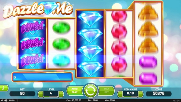 You can play NetEnt Dazzle Me Slot at Mrgreen.com