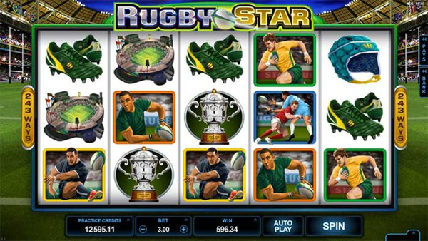 Screenshot of Rugby Star Online Slot