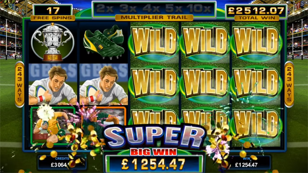 New Slots at Mr Green Casino include Microgaming Rugby Star