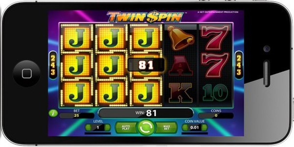 The mobile slot version of Twin Spin is NetEnt Touch powered
