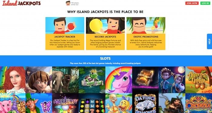 Islandjackpots Casino Review Screenshot