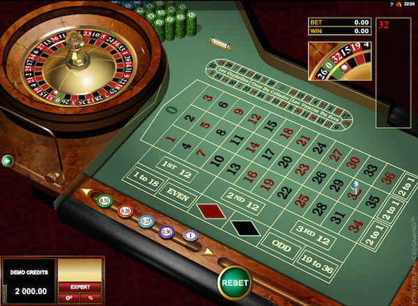 Online Roulette by Microgaming