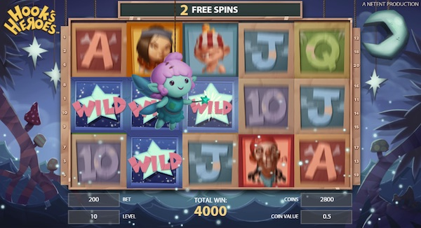 Free Spins Feature Mode on Hooks Heroes Slot