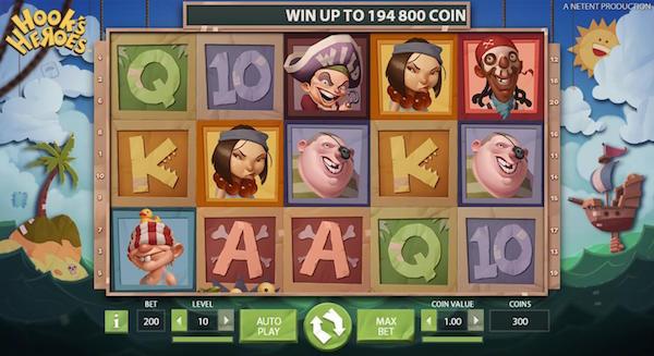 NetEnt Hooks Heroes Online Slot Screenshot
