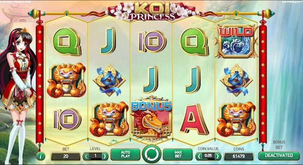 Play Koi Princess at Karamba Mobile Slots