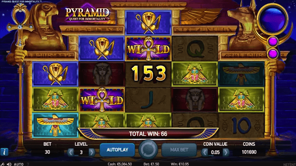Screenshot of Pyramid Quest for Immortality Online Slot