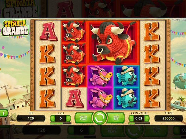 The popular Spinata Grande at Slots Angel