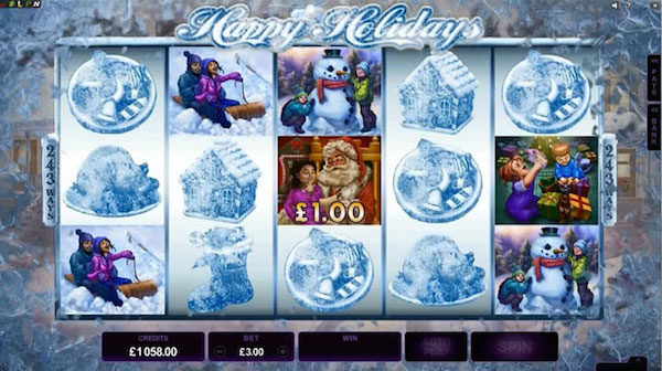 The Frosty Feature turns the Christmas Slots 5-Reels to Ice