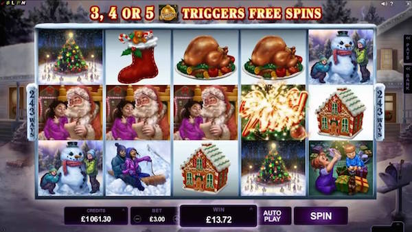 Screenshot of Christmas Online Slot Happy Holidays