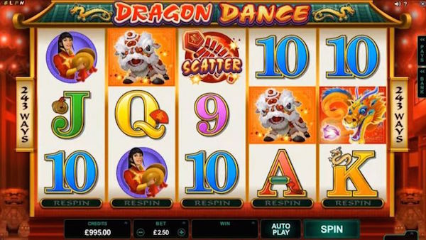 Dragon Dance Chinese New Year Slot Screenshot