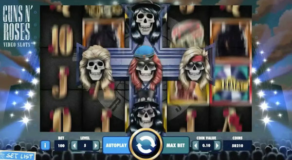 Screenshot of Guns n Roses Online Slot