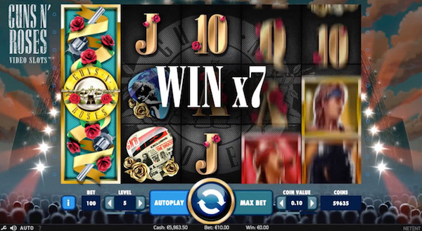 Guns N Roses Mobile Slot Game