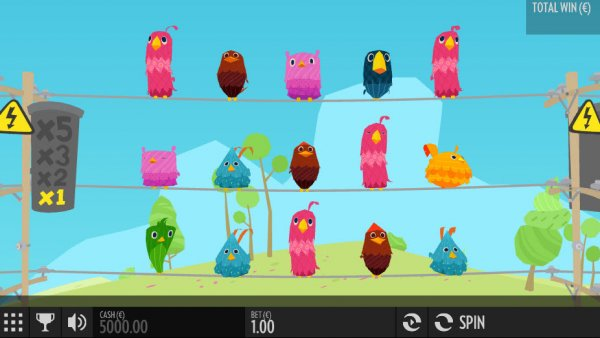 Screenshot of Birds on a Wire Online Slot