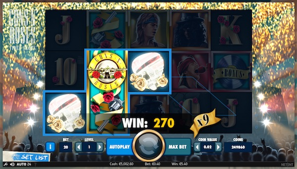 Winnings multiplied by 9x following a Solo Multiplier