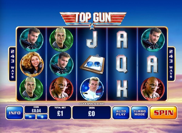 Screenshot of Top Gun Online Slot