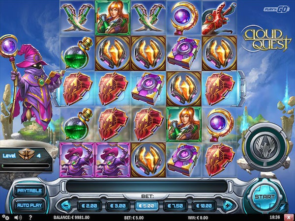 Screenshot of Cloud Quest Online Slot