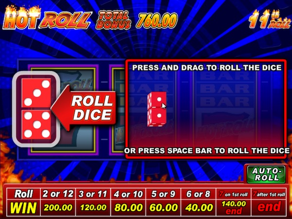 Roll the Dice in the IGT Hot Roll Super Times Pay Slot Bonus