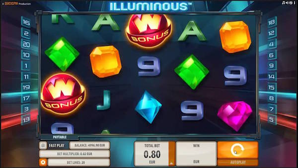 UK Review Screenshot of Quickspin Illuminous Slot