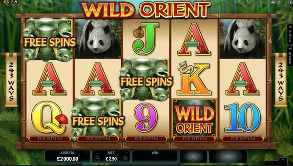 Wild Orient Bonus Feature Free Spins