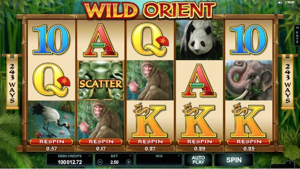 Screenshot of Wild Orient Online Slot